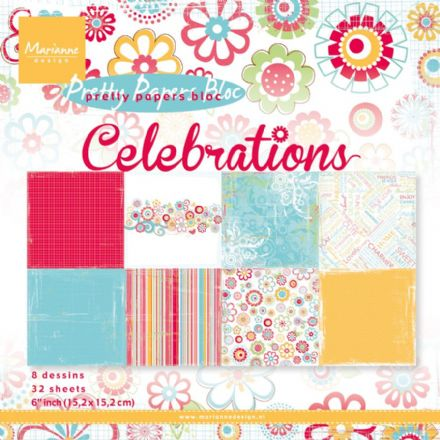 PK 9131 ~ CELEBRATIONS ~ Pretty Papers Bloc ~ Marianne Designs